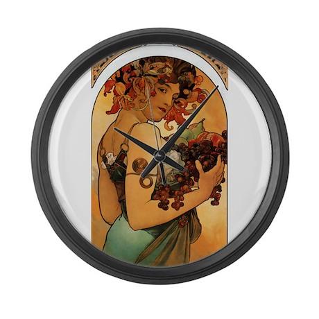 Alphonse Mucha Large Wall Clock