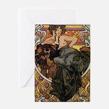 Alphonse Mucha Greeting Card