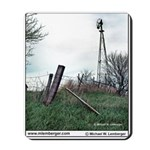 Windmill, leaning fence, farming, Mousepad