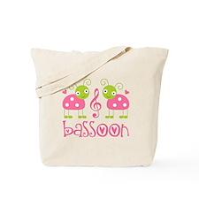 Cute Bassoon Ladybug Tote Bag