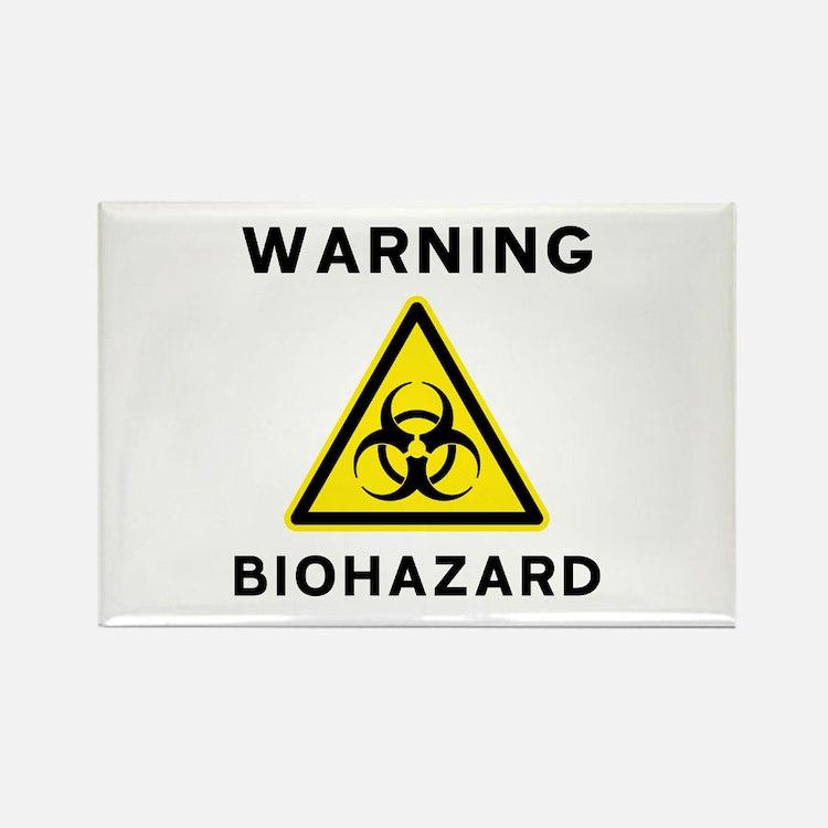 Biohazard Warning Sign Rectangle Magnet
