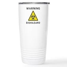 Biohazard Warning Sign Travel Mug