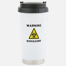 Biohazard Warning Sign Travel Mug