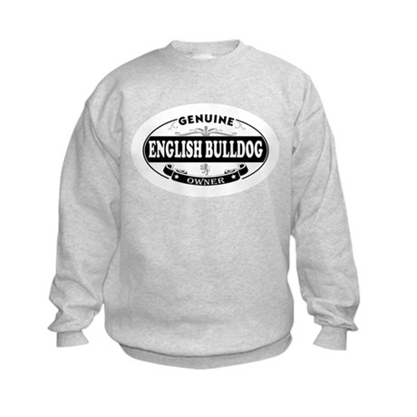 Genuine English Bulldog Owner Kids Sweatshirt
