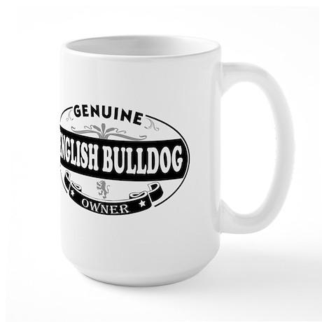 Genuine English Bulldog Owner Large Mug