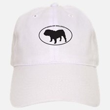 English Bulldog Silhouette Baseball Baseball Cap