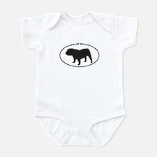 English Bulldog Silhouette Infant Bodysuit