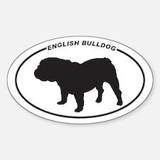 English Bulldog Silhouette Decal
