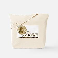 Vintage Palm Tree Benin Tote Bag