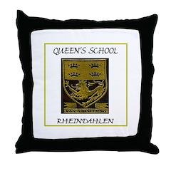 Queen's School Rheindahlen Throw Pillow