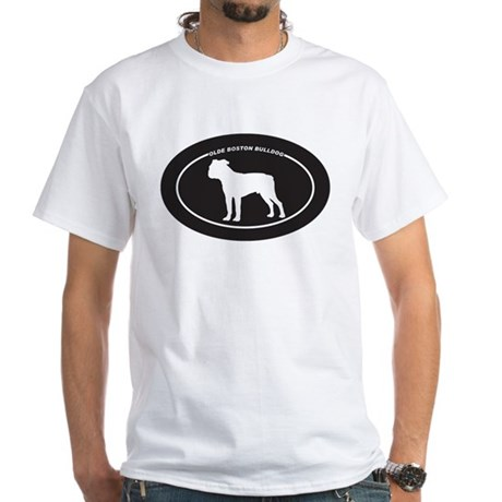 Olde Boston Bulldog White T-Shirt