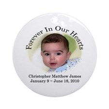 Forever In Our Hearts Ornament (Round)