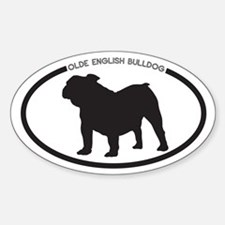 Olde English Bulldog Sticker (Oval)