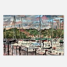 sailing fishing beach art dec Postcards (Package o