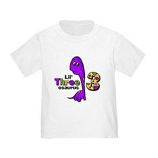 Purple Dinosaur 3rd Birthday T