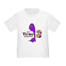 Purple Dinosaur 3rd Birthday T