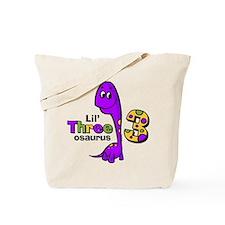 Purple Dinosaur 3rd Birthday Tote Bag