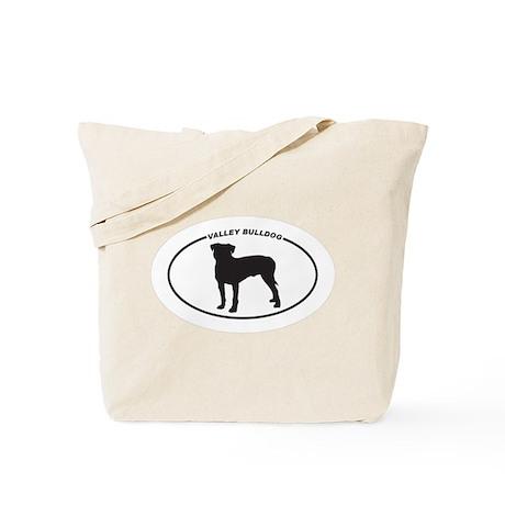 Valley Bulldog Silhouette Tote Bag