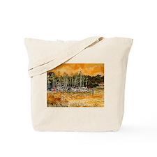 abstract beach sailboats art Tote Bag