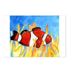clownfish sealife fish aquari Postcards (Package o