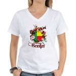 Butterfly Benin Women's V-Neck T-Shirt