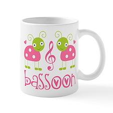Cute Bassoon Ladybug Small Mug