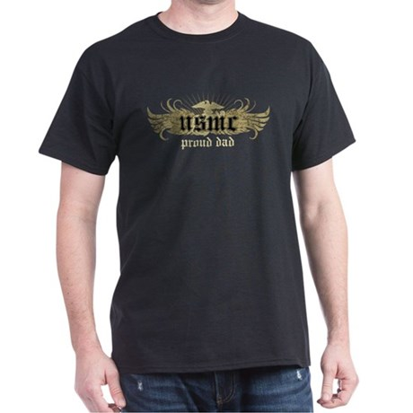 USMC Proud Dad Dark T-Shirt