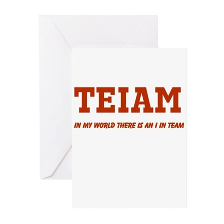 I in Team (no star) Greeting Cards (Pk of 10)