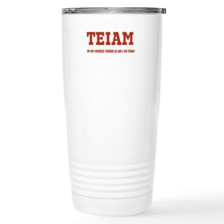 I in Team (no star) Stainless Steel Travel Mug