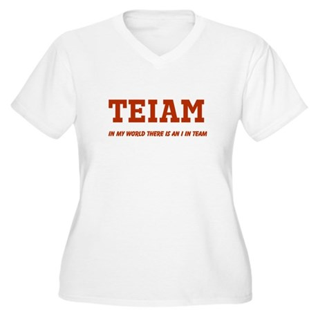 I in Team (no star) Women's Plus Size V-Neck T-Shi