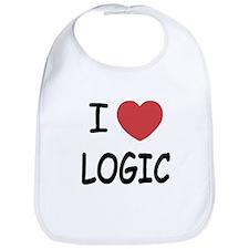 I heart logic Bib