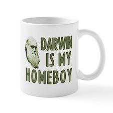 Darwin is my Homeboy Small Mug