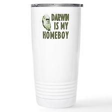 Darwin is my Homeboy Travel Mug
