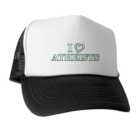 I Heart Atheists Trucker Hat