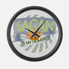 Sagan is my Homeboy Large Wall Clock