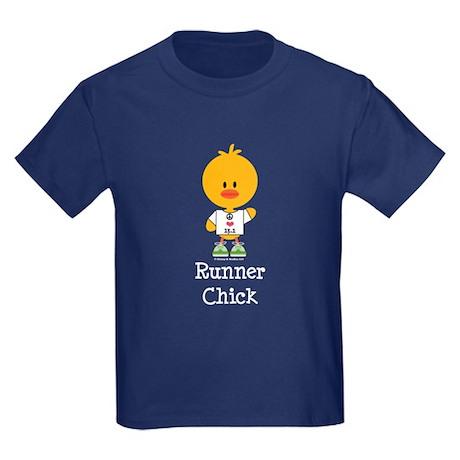 Runner Chick 13.1 Kids Dark T-Shirt