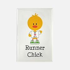 Runner Chick 13.1 Rectangle Magnet