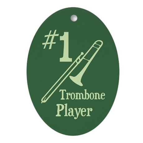 #1 Trombone Ornament (Oval)