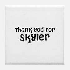 Thank God For Skyler Tile Coaster