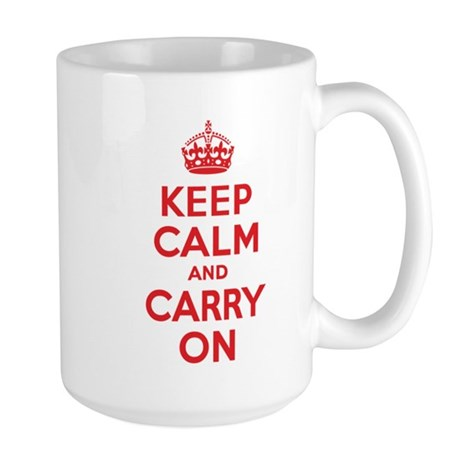 Keep Calm & Carry On Large Mug