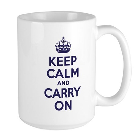 Keep Calm & Carry On Large Mug