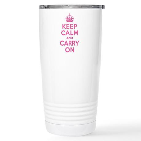 Keep Calm & Carry On Stainless Steel Travel Mug