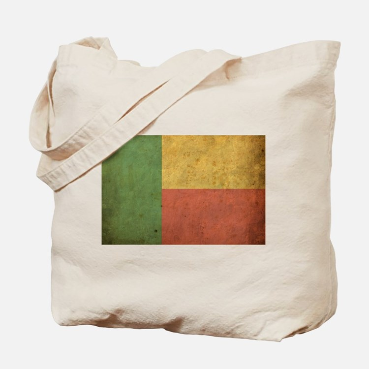 Vintage Benin Flag Tote Bag