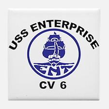 USS Enterprise CV-6 Tile Coaster