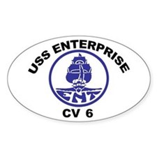 USS Enterprise CV-6 Decal