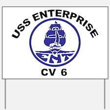 USS Enterprise CV-6 Yard Sign