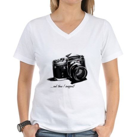 and then I snapped! Women's V-Neck T-Shirt