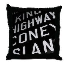 Kings Highway Coney Island Throw Pillow
