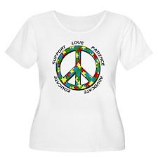 Autism Peace Sign T-Shirt