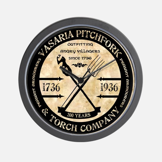 Vasaria Pitchfork and Torch Co. Wall Clock